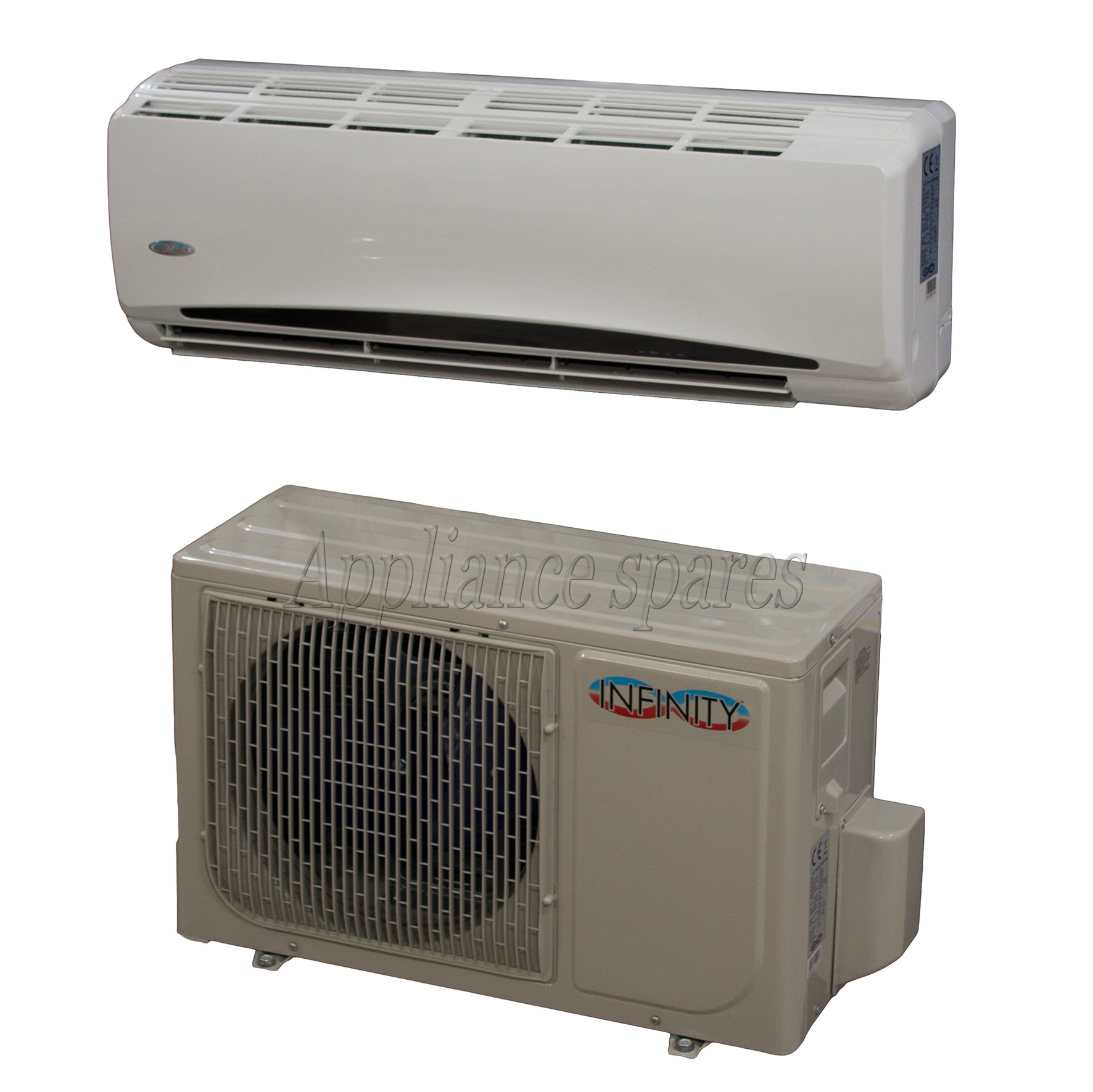 INFINITY AIR CONDITIONER 9000 BTU MIDWALL SPLIT INCLUDING 3m PIPE KIT  #2F6273