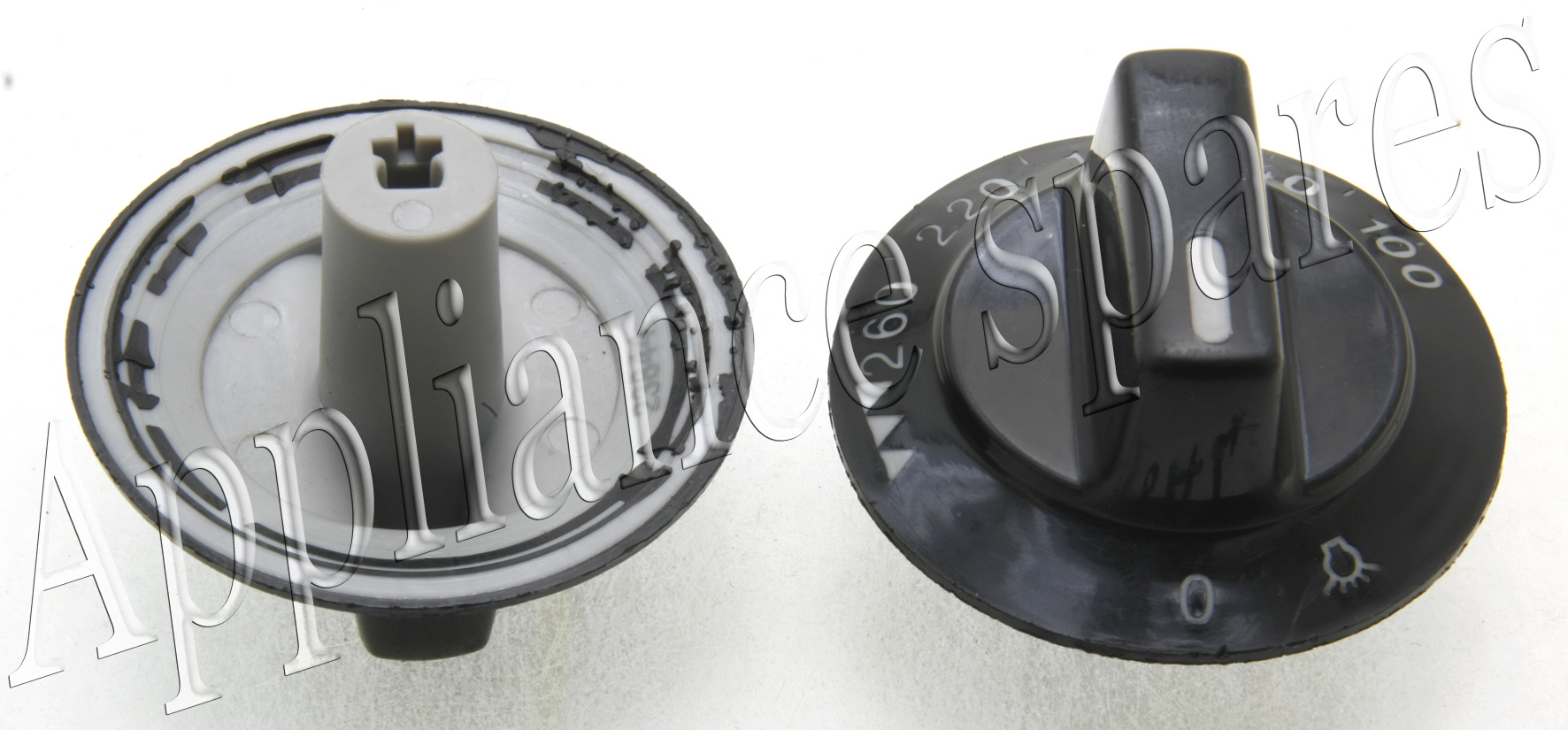 DEFY OVEN TEMPERATURE CONTROL KNOB WITH 5mm SHAFT 100° 260  #716C5A