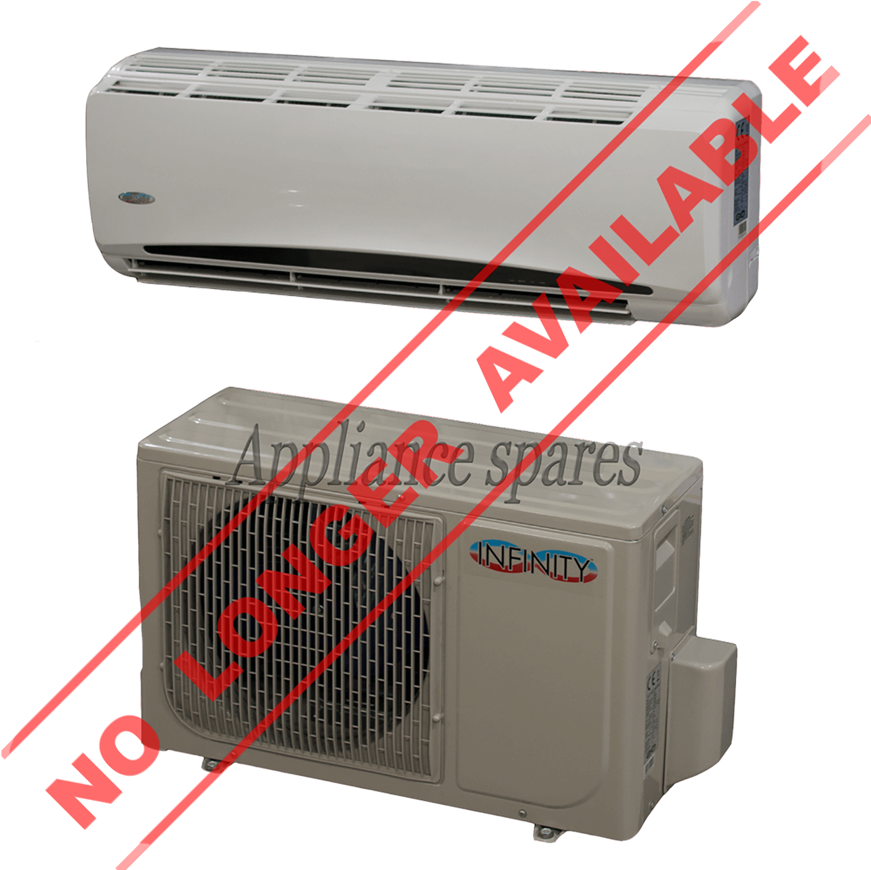 INFINITY AIR CONDITIONER 12000 BTU MIDWALL SPLIT INCLUDING 3m PIPE KIT  #A32A28