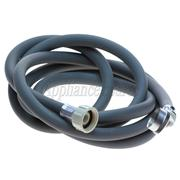 WHIRLPOOL 3 METER INLET HOSE, 1 X STRAIGHT FITTING and 1 X 90° USA THREAD FITTING