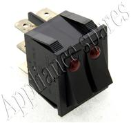 WESTPOINT BAKE/GRILL ILUMINATED SELECTOR SWITCH (BLACK) 3 + 3 CONNECTIONS