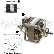 SPEED QUEEN TUMBLE DRYER REBUILD MOTOR (ALUMINIUM)
