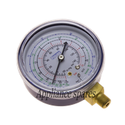 SINGLE MANIFOLD GAUGE FOR LOW SIDE NO GLYCERINE FILLED R12, R22, R134