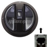 DEFY CONTROL KNOB FOR WARMER DRAWER FOR 6mm SHAFT (BLACK) 0 - 1