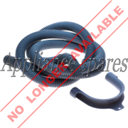 2 METER DRAIN HOSE, 22MM 90° END X 18MM STRAIGHT END WITH HOOK