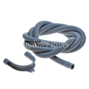 3 METER DRAIN HOSE, 22MM STRAIGHT X 18MM STRAIGHT ENDS WITH HOOK