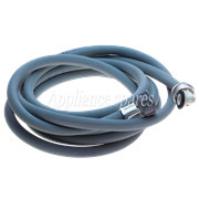 WHIRLPOOL 3.5 METER INLET HOSE, 1 X STRAIGHT FITTING and 1 X 90° FITTING USA THREAD