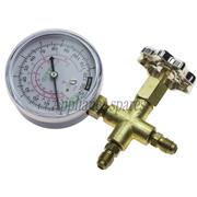 SINGLE MANIFOLD WITH GAUGE FOR R12, R22, R502