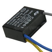 CEILING FAN CAPACITOR 0.5UF + 1 UF 450V (3 WIRES)
