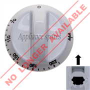DEFY CONTROL KNOB FOR 6mm SHAFT (WHITE) 0°C - 230°C**DISCONTINUED