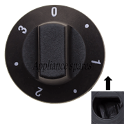 EGO CONTROL KNOB FOR 6mm SHAFT (6 POSITION)<BR &#47; > EGO: 0000.524.007I