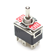 TOGGLE SWITCH DOUBLE POLE DOUBLE THROW ON/OFF/ON 15AMP